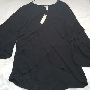 Chico's Black dress top sz 1